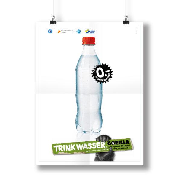GORILLA Trink Wasser Poster