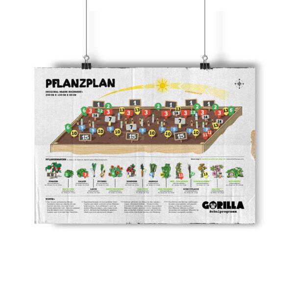 GORILLA Pflanzplan Poster