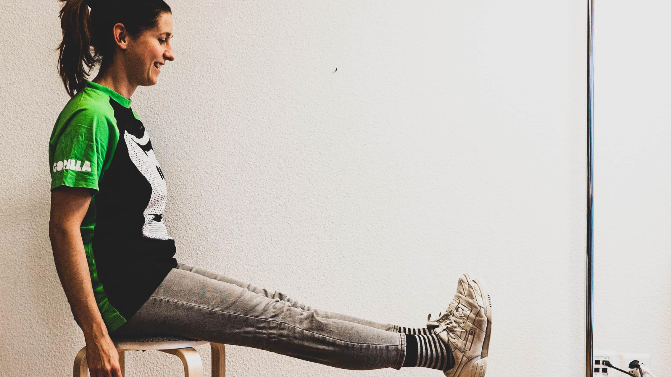 Übungen im Sitzen