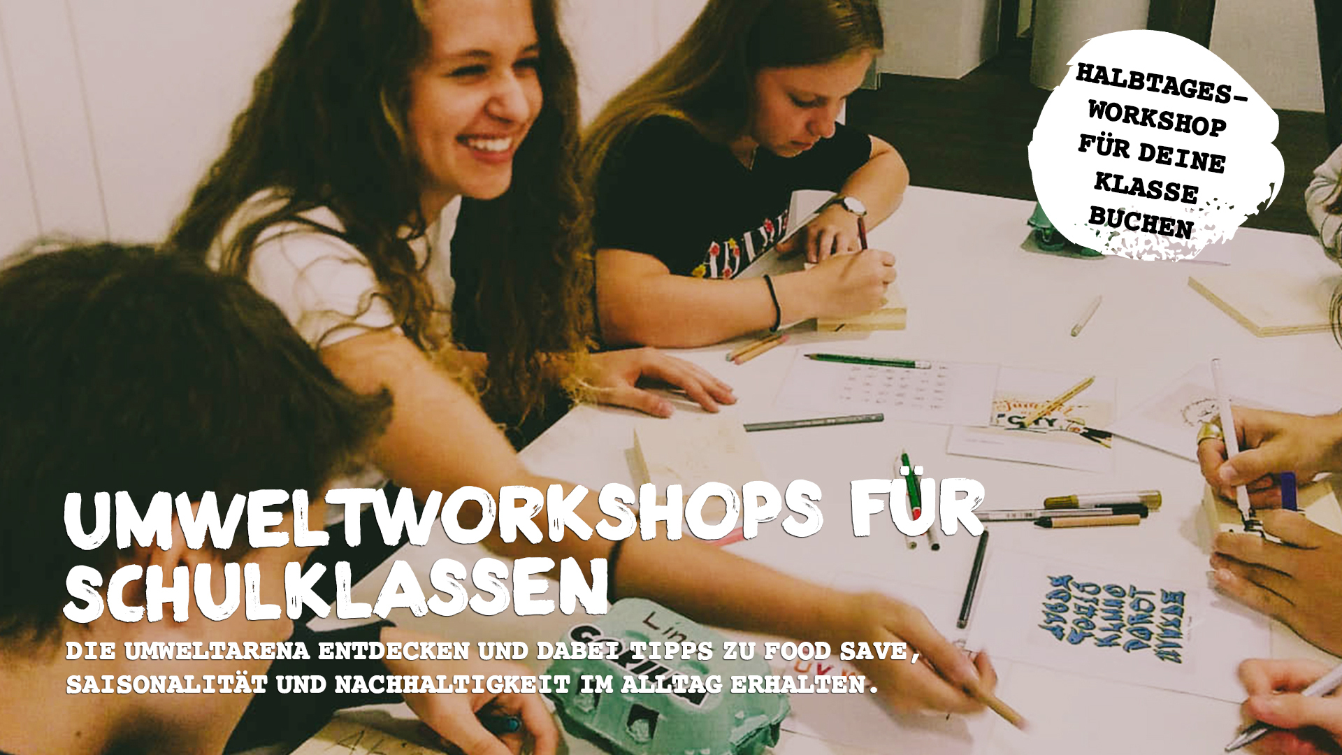 Umweltworkshops für Schulklassen