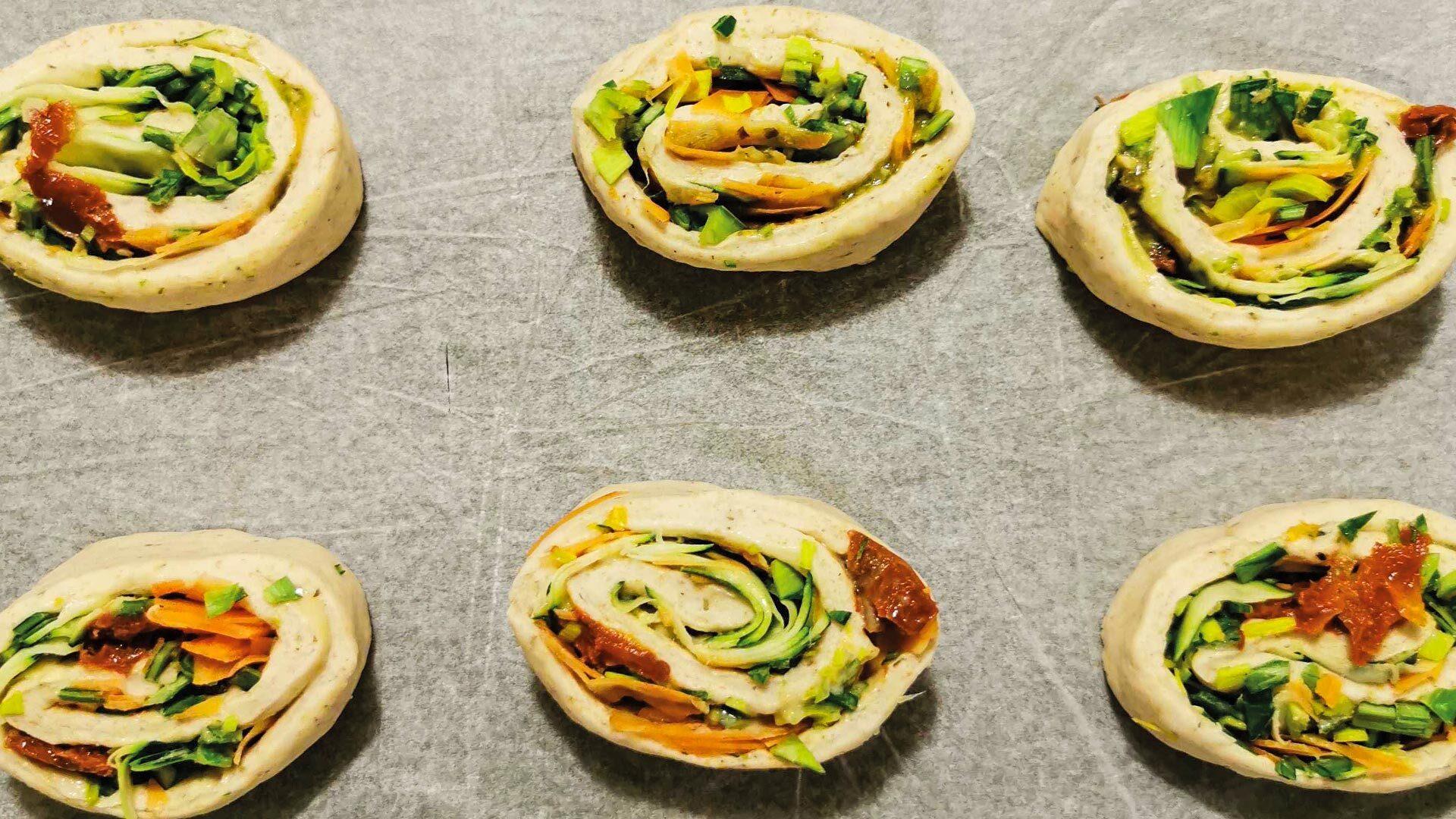 Salzige Gemüse-Teigrollen