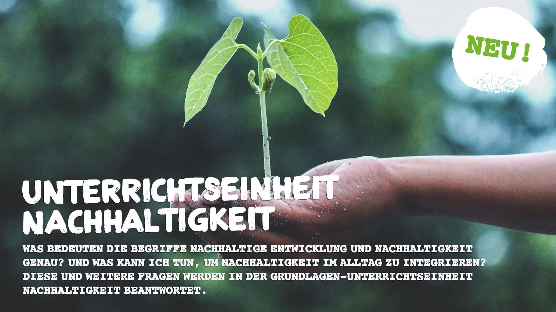 Lektion Nachhaltigkeit